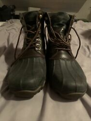 Sperry Top Sider Mens Brown Black Ducks Boots Size 11m