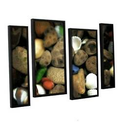 Artwall Kevin Calkins ' Petoskey Stone Collage Iii 4 Piece Extra Large