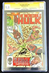 The Incredible Hulk 316 Marvel Comic Book Cgc Graded 9.8 Wp Signed By Stan Lee