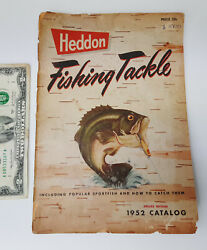 Vintage Heddon Fishing Tackle 1952 Catalog Deluxe Edition 76 Pages