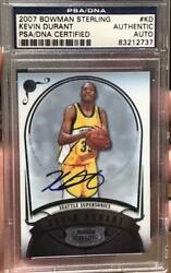 Kevin Durant Bowman Sterling 2007 Kd Rc Rookie Basketball Card Psa Autographed