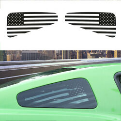 Rear Window Decor Sticker Trim Decal Decor Us Flag Black For Ford Mustang 08-14