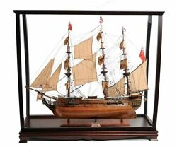 Hms Surprise Tall Ship Model 37 Master And Commander W/ Table Top Display Case