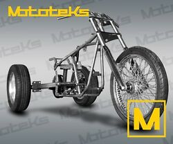 Harley Trike Kit Rolling Chassis Roller Kit W/ Axle Frame Wheels Front End