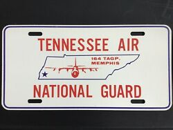Tennessee Air National Guard 164 Memphis Vintage Booster Front License Plate Tag