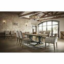 Birmingham 9-piece Removable Leaf Table With Arm Dining Brown 9-piece Sets
