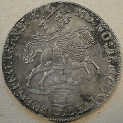 Netherlands 1734 Ducaton From The Tand039viegent Hart Shipwreck. Very Nice For Sea Sa
