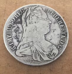 1780 S.f. Austria Hungry Italy Venice 1 Thaler Silver Coin M.theresa Wah92