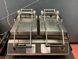 Star Pro-max Panini Grill Commercial Pro-max Two-sided Grooved Grill+dual Doors
