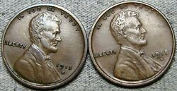 1915-s 1918-s Lincoln Cent Wheat Penny ---- Nice Lot ---- R613