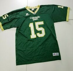 Russell Athletic Colorado State Rams Football Jersey 15 Youth Xl Csu Green