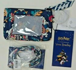 Vera Bradley Harry Potter Home To Hogwarts Zip Id Coin Case And Lanyard Set Nwt