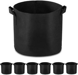 6-pk 1 Gallon Grow Bags Heavy Duty - Thickened Nonwoven Fabric Pots With Handles