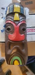 Oceanic Trading Tiki Heads 1960s 26 By 12 By 10