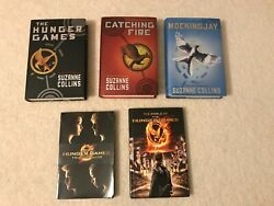 Lot Of 5 Complete Set Hunger Games Hardcover Books + Guides By Suzanne Collins