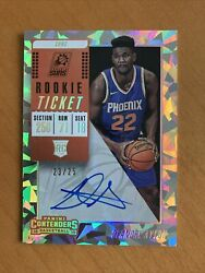 2018-19 Deandre Ayton /25 Rc Panini Contenders Cracked Ice Ticket On Card Auto