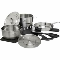 Stanley Even Heat Camp Pro Cookset, 11-piece Camping Cookware Set With Stainless