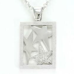 Jewelry 18k White Gold Necklace Diamond 0.27 About16.4g Free Shipping Used