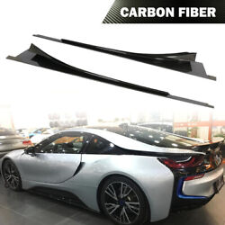 2pcs Side Skirts Spoiler Lip Fit For Bmw I8 Coupe 14-18 Dry Carbon Fiber Factory