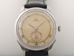 Vintage Omega Bumper Automatic With Two Tones Dial Cal. 30.10 Swiss Watch With W