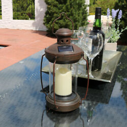 Sunnydaze 12 Outdoor Antique Hanging Solar Lantern With Candle And Led - 6pk