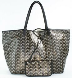 Authentic Chic Goyard Saint Louis Gm Tote With Coin Pouch In Great C B00001625
