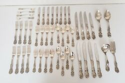 Reed And Barton Francis I 1 Sterling Silver Flatware Set Dinner Service For 8–48pc