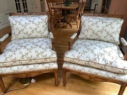 Minton Spindell Cressant French Country Lounge Chairs1 Pair