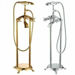 Shower Faucet Bathtub Telephone Tap Brass Floor Mounted Cold And Hot Water Mixer