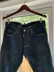 Dsquared Authentic Mens Croped Jeans Size 50 It Mod. S71lb0130. Skinny Jean.