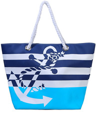 Waterproof Beach Bag Extra Large Summer Tote Top Magnet Clasp Bag With Soft Rope $24.10