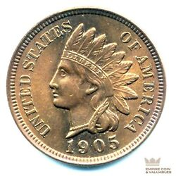 1905 Indian Head Cent Penny Highly Attractive Solid Gem Bu++ Luster Cb1