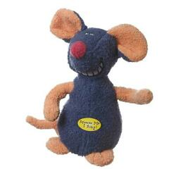 Multipet Deedle Dude Musical Interactive Plush Mouse Dog Toy 8 Inch