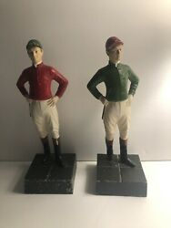 Andldquo21andrdquo Club Nyc Jockey Bookends Pair Red And Green