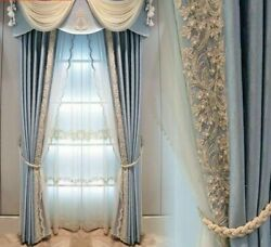 European Window Curtains Tulle Lace Valance Home Decoration Screening Blinds New