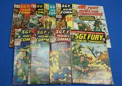 Sgt Fury And His Howling Commandos 40-99 Marvel Comics 9 Issue Lot Silver Age