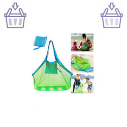 SupMLC Mesh Beach Bag Extra Large Beach Bags and Totes Tote Backpack Toys To … $15.90