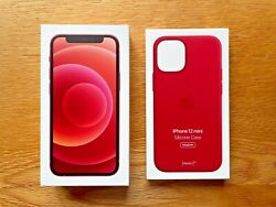 Apple Iphone 12 Mini 128gb Product Red Unlocked Warranty + Apple Silicone Case