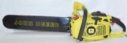 Vintage Chainsaw Chain Saw John Deere Yellow 55ev With Bar And Manual Echo