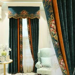 Chenille Curtains Fabric Tulle Window Treatment Luxury Home Pastoral Decorations