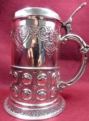 Arts And Crafts Solid Silver Tankard 1910
