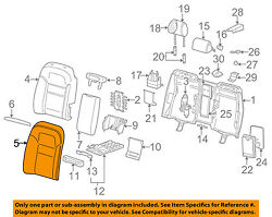 Audi Oem 04-07 A8 Quattro Rear Seat-seat Cover-top Back Right 4e0885806aa22a