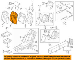 Audi Oem 11-15 A8 Quattro Rear Seat-seat Cover-top Back Left 4h0885805c22a