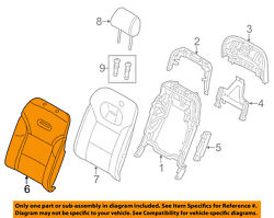 Audi Oem 11-15 A8 Quattro Rear Seat-seat Cover-top Back Right 4h0885806ambk4