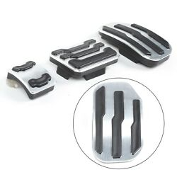 No Drill Foot Gas Brake Pedal Pad Cover Kit For Ford F150 F-150 Raptor 2015-2018