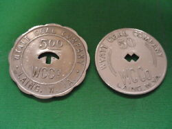 Wv Coal Scrip 50andcent And 5.00 Wyatt Coal Company-laing-wv-kanawha County
