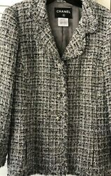 10p Lesage Tweed Fringed Acket Chain Cc Logo Buttons Fr44 Us12