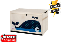 Kids Toy Chest - Storage Trunk For Boys And Girls Room - Whale