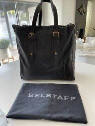 New. Belstaff Dorchester Satchel/tote Bag. Waxed Cotton And Leather. Dark Olive
