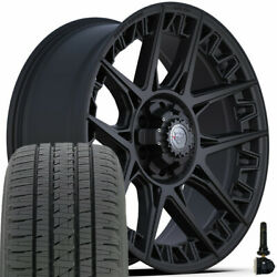 22 4play 4ps50 Wheels And 285/45r22 Bridgestone Dueler Set For Chevy Gmc Ford Ram